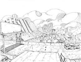 now entering void city by Alberto-Rios