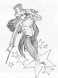Zatana Sketch by rogermed