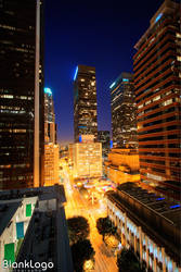 Downtown Los Angeles Night HDR by blanklogo