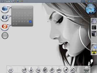 GrayzY Desktop by z-dark