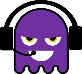 Purple Ghost Guy the You Tuber Premium by Semeone1