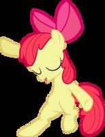 MLP: Apple Bloom showing her dance moves v2 by FloppyChiptunes
