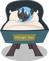 MLP: OC - Foal Midnight Bass (without background) by FloppyChiptunes