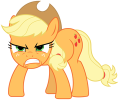 MLP: Angry Applejack :| by FloppyChiptunes