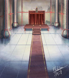 Ryuuguujou's Hall by Fhabio