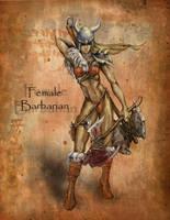 Female Barbarian by ravenofsorrows