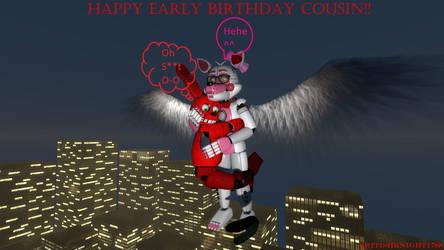 The  B-day Angel Fox by BritishKnight1788