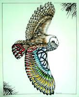 Sun owl by GreenLadyMonster