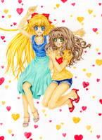 Minako and Rose by ArtTreasure