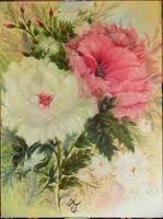 Fantasy Phoenix Flowers by ArtTreasure
