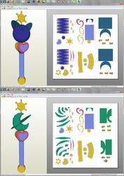 SailorMoon - Uranus and Neptune LipRods Papercraft by aiko-chan14