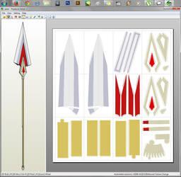 Madoka Magica - Kyoko's Spear Papercraft by aiko-chan14