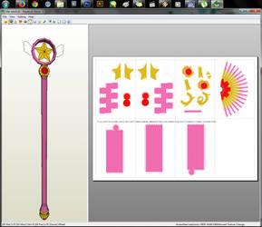 CardCaptor Sakura - Star Wand Papercraft by aiko-chan14