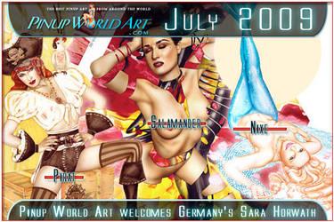 New artist Sara Horwath by PinUp-World-Art