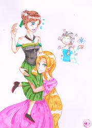 Rapunzel x Anna by Momoko-Sara-Hoshino