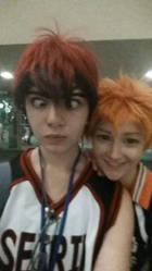 Kagami Photobombed His Own Selfy by patatachip