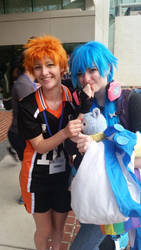 mE AND A CUTE ASS AOBA by patatachip
