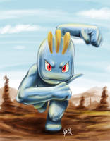 machop by Zeablast