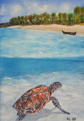 Paradise island by Rocksane-Art