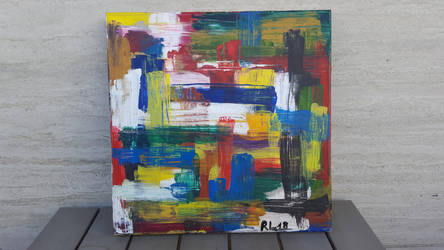 Abstract with knife by Rocksane-Art
