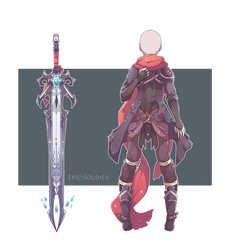 Outfit/weapon commission by Epic-Soldier