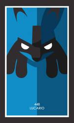 Pokemon Card 448 - Lucario by JoseAvya