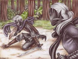 Fighting Practice by Lienwyn