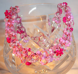 Shaggy Loops Beaded Bracelet - Fiesta Pink by Entorien