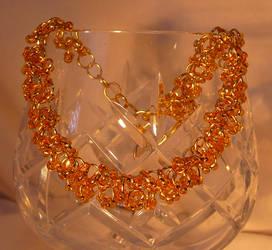 Shaggy Loops Beaded Bracelet - Rich Gold by Entorien