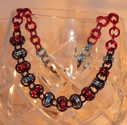 Barrel Weave Chainmaille Bracelet by Entorien