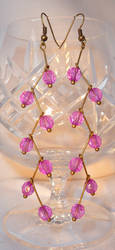 Lilac Cascade - Beaded Earrings by Entorien