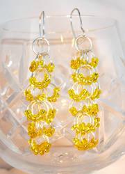 Shaggy Loops Beaded Earrings - Nectar Cascade by Entorien