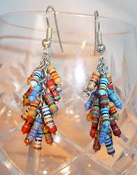 Resistor Cascade Earrings by Entorien