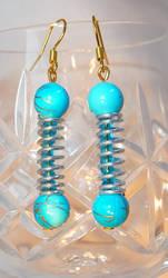 Blue Spiral Earrings by Entorien