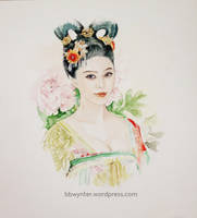 Watercolour Fan BingBing by BBWynter