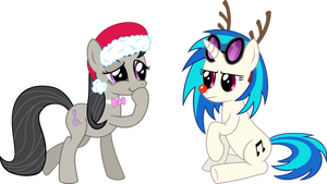 Christmas Special - Octavia and Vinyl by VaderPL