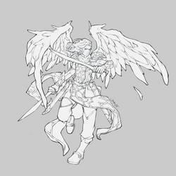 Commission Lineart: Icarus Callatuil by JomanMercado