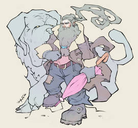 Character Design Challenge: Hagrid by JomanMercado