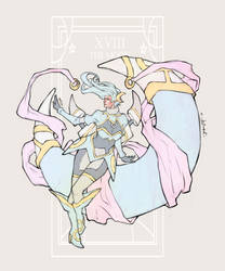Character Design Challenge: 'The Moon' Tarot Card by JomanMercado