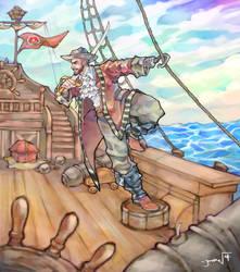 Commission: Pirate Ben by JomanMercado