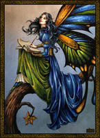 Fairytale writer fairy by Candra