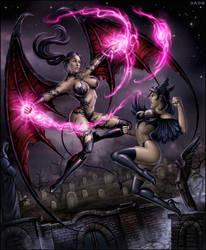 Desmodas vs Black Swan by Candra