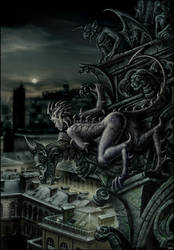Chimera from Notre Dame's roof by Candra