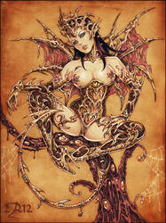 Golden succubus by Candra