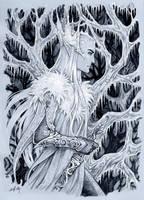 Frosty winter in Mirkwood by Candra