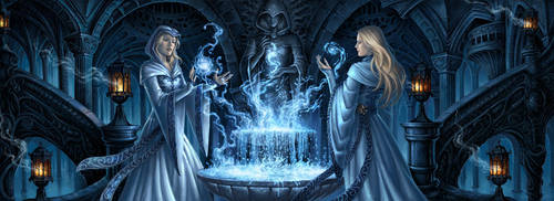 Fountain of magic by Candra