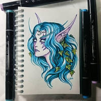 Instaart - Tyrande Whisperwind by Candra