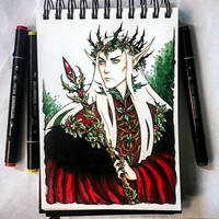 Instaart - Thranduil like a YuleKing by Candra