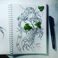 Instaart - Tyrande (NSFW optional) by Candra