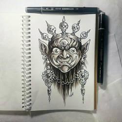 Instaart -  Tibetan mask by Candra